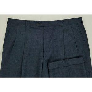 Hickey Freeman Blue Wool Dress Pants 38x32.25